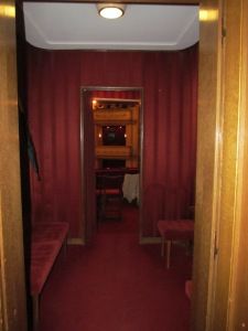 Entrance to the balcony lounge - seats through the farther doorway